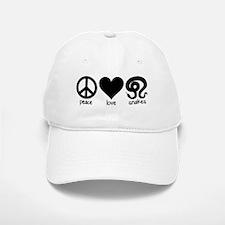 Peace Love & Snakes Baseball Baseball Cap