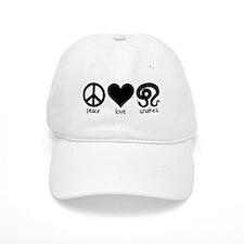Peace Love & Snakes Baseball Cap