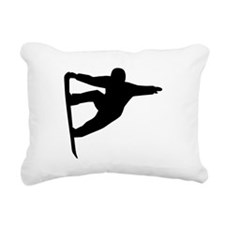 Snowboard freestyle Rectangular Canvas Pillow