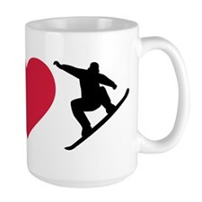 I love Snowboarding Ceramic Mugs