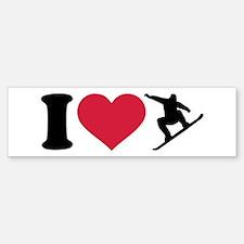 I love Snowboarding Bumper Bumper Sticker