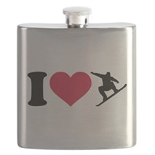 I love Snowboarding Flask