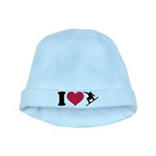 I love Snowboarding baby hat