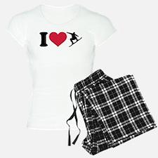 I love Snowboarding Pajamas