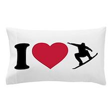 I love Snowboarding Pillow Case