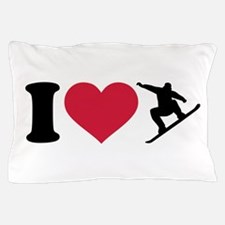 I love Snowboarding Pillow Case
