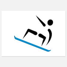Snowboarding logo Invitations