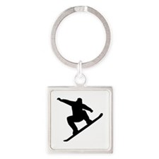 Snowboarding freestyle Square Keychain