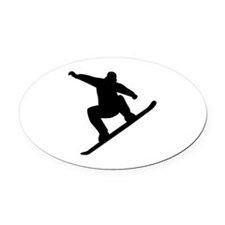 Snowboarding freestyle Oval Car Magnet