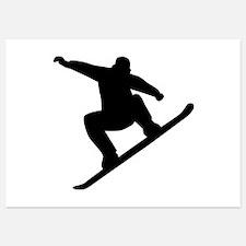 Snowboarding freestyle Invitations