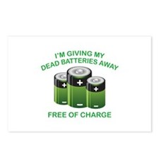 Free Of Charge Postcards (Package of 8)