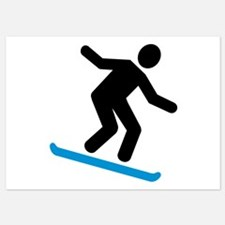 Downhill snowboarding Invitations