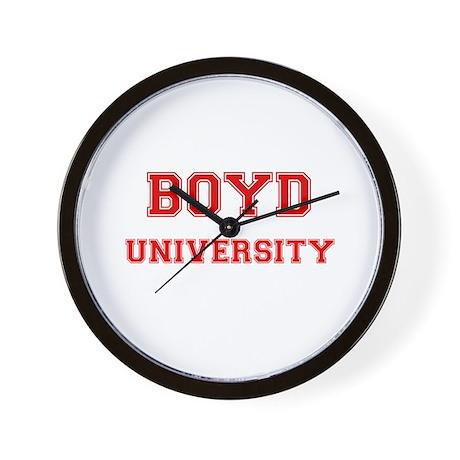 BOYD UNIVERSITY Wall Clock