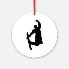 Snowboarder jump Ornament (Round)