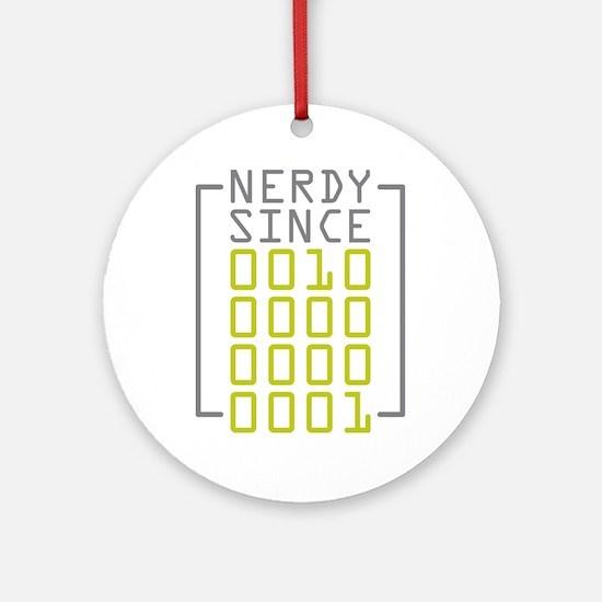 Nerdy Since 2001 Ornament (Round)