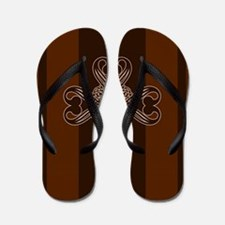 Royal Emblem Coffee Flip Flops