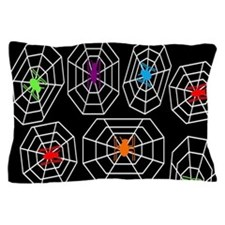 Neon Spiders Pillow Case