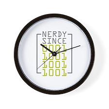 Nerdy Since 1999 Wall Clock