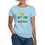 The Big One Surf Women's Light Blue T-Shirt