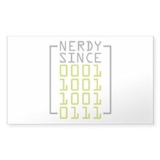 Nerdy Since 1997 Decal