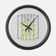 Nerdy Since 1997 Large Wall Clock