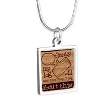 Log Lady Silver Square Necklace