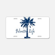 Blue Palmetto Life Aluminum License Plate
