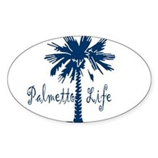 Blue Palmetto Life Decal