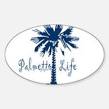 Blue Palmetto Life Decal