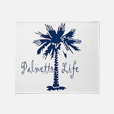 Blue Palmetto Life Throw Blanket