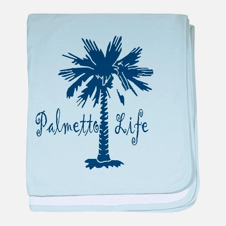 Blue Palmetto Life baby blanket