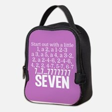 Pink Seven Neoprene Lunch Bag
