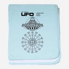UFO Blueprint baby blanket