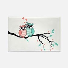 Cute owls in love Magnets