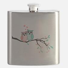 Cute owls in love Flask
