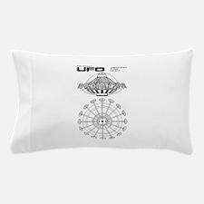 UFO Blueprint Pillow Case