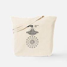 UFO Blueprint Tote Bag