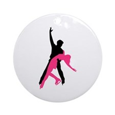 Figure skating couple Ornament (Round)