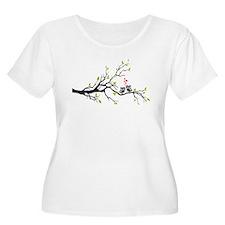 Cute owls on tree Plus Size T-Shirt