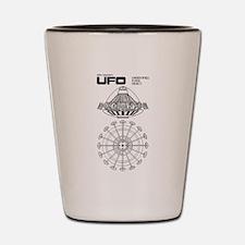 UFO Blueprint Shot Glass