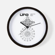 UFO Blueprint Wall Clock