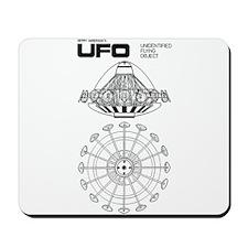UFO Blueprint Mousepad