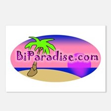 BiParadise Oval Postcards (Package of 8)