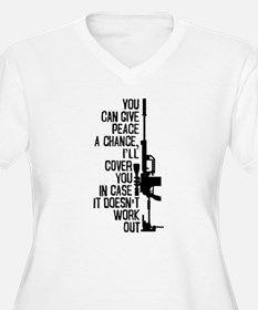 You Can Give Peace a Chance Plus Size T-Shirt