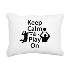 Keep Calm and Play On (Volleyball) Rectangular Can