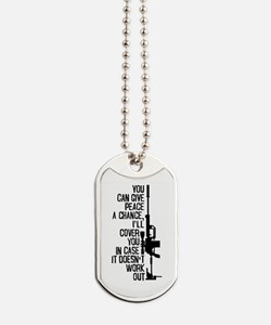 You Can Give Peace a Chance Dog Tags