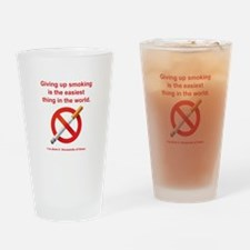 Giving Up Smoking Drinking Glass