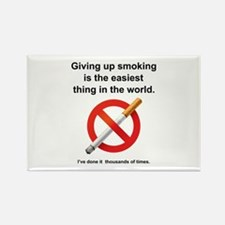 Giving Up Smoking Rectangle Magnet