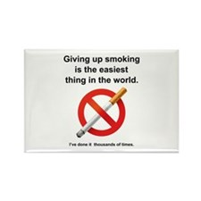 Giving Up Smoking Rectangle Magnet (10 pack)