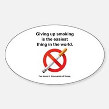 Giving Up Smoking Decal